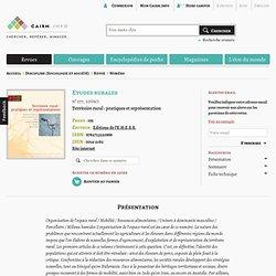 Revue Etudes rurales 2006/1, Territoire rural : pratiques et représentation