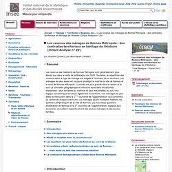 Territoire - Les revenus des ménages de Rennes Métropole : des contrastes territoriaux en héritage de l'Histoire (Octant Analyse n° 29)