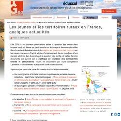 Les jeunes et les territoires ruraux en France, quelques actualités