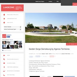 Garden Serge Gainsbourg by Agence Territoires