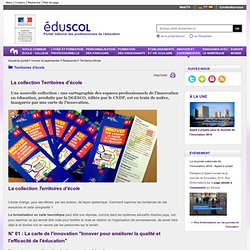 Territoires d'école - La collection Territoires d'Ecole