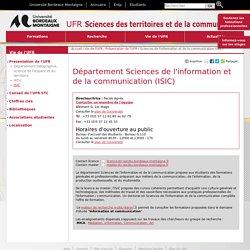 ISIC - UFR Sciences des Territoires et de la Communication