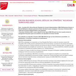 """""""Nouveaux territoires 2020"""" / Communiqués de Presse / Salle de Presse / EML, l'essentiel / EML Executive Education"""