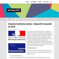 Contrats territoires lecture pour un accès à la lecture à l'échelle nationale : renouvellement en 2016