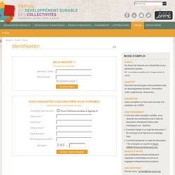 Territoires durables - Forums