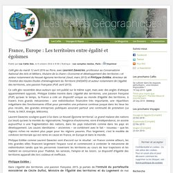 France, Europe : Les territoires entre égalité et égoïsmes