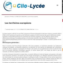 Les territoires européens Clio Lycée