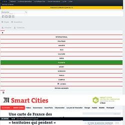 Une carte de France des «territoires qui gagnent» et des «territoires qui perdent»