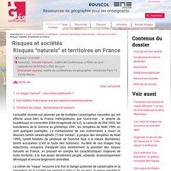 "Risques ""naturels"" et territoires en France"