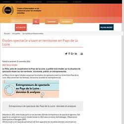 Études spectacle vivant et territoires en Pays de la Loire. / Actualités / Irma : centre d'information et de ressources pour les musiques actuelles