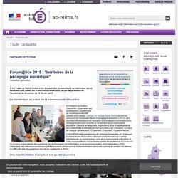 """Forum@tice 2015 : """"territoires de la pédagogie numérique"""""""