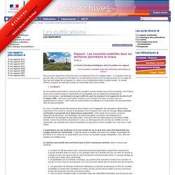 Rapport - Les nouvelles mobilités dans les territoires périurbains et ruraux