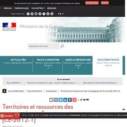 Territoires et ressources des compagnies en France [CE-2012-1]