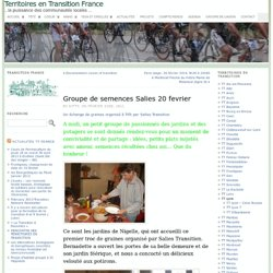 Groupe de semences Salies 20 fevrier « Territoires en Transition France