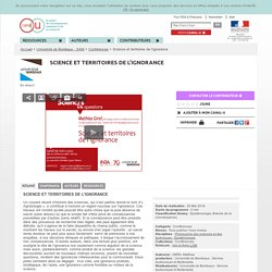 Science et territoires de l'ignorance - Université de Bordeaux - SAM