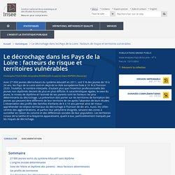 Le décrochage dans les Pays de la Loire : facteurs de risque et territoires vulnérables