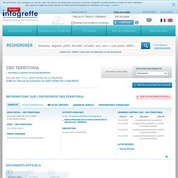 CBO TERRITORIA à SAINTE-MARIE (452038805), CA, bilan, KBIS