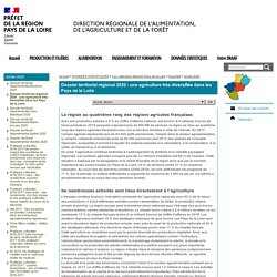 Dossier territorial régional 2020: une agriculture très diversifiée dans les Pays de la Loire - DRAAF Pays-de-la-Loire