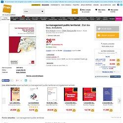 Le management public territorial, Eric Ardouin, Didier Bacqueville tous les livres à la Fnac