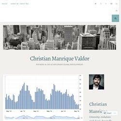 NEW TERRITORIAL FOCUS ON WORLD ECONOMY – Christian Manrique Valdor