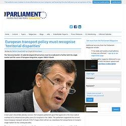 European transport policy must recognise 'territorial disparities'