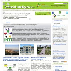 Home - Territorial Intelligence Portal. Knowledge, Methods, Governance and tools for action