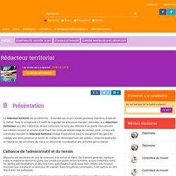 Rédacteur territorial : la fiche métier sur Orientation Education