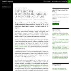 Cette réforme territoriale qui inquiète le monde de la culture