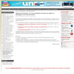 UNSA 26/01/15 Réforme Territoriale : Un cas exemplaire de fusion de région, la Bourgogne et la Franche-Comté