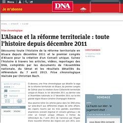 L'Alsace et la réforme territoriale : toute l'histoire depuis décembre 2011