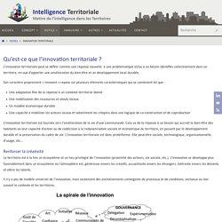 Innovation Territoriale - Intelligence Territoriale