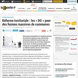 Réforme territoriale : les « DG » pour des fusions massives de communes