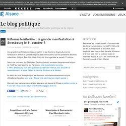 Réforme territoriale : la grande manifestation à Strasbourg le 11 octobre ?