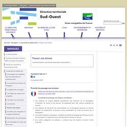 Passer une écluse - internet de la Direction territoriale Sud-Ouest de Voies Navigables de France