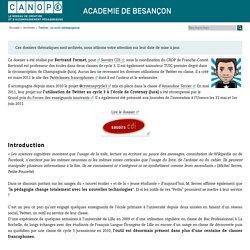 Canopé académie de Besançon : Twitter, un outil pédagogique