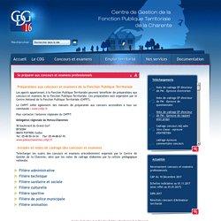 Centre de Gestion de la Fonction Publique Territoriale de la Charente (16). > Se préparer aux concours et examens professionnels