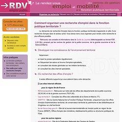 Organiser sa recherche - RDVemploipublic.fr