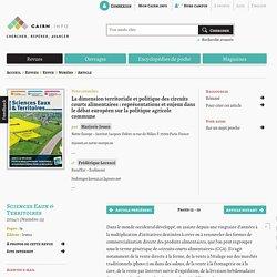 La dimension territoriale et politique des circuits courts alimentaires: représentations et enjeux dans le débat européen sur la politique agricole commune