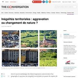 Inégalités territoriales: aggravation ouchangement denature?