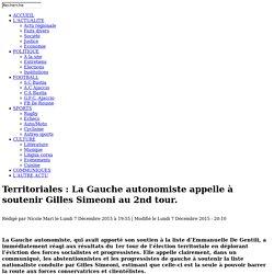 La Gauche autonomiste appelle à soutenir Gilles Simeoni