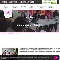 FormationsetAnimations territoriales - CRI Auvergne