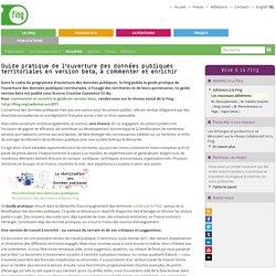 Guide pratique de l'ouverture des données publiques territoriales en version beta, à commenter et enrichir