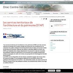 Les services territoriaux de l'architecture et du patrimoine (STAP) - Drac Centre-Val de Loire