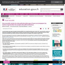 Une nouvelle version du site pedt.education.gouv.fr pour accompagner les maires et généraliser les projets éducatifs territoriaux