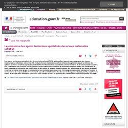 Les missions des agents territoriaux spécialisés des écoles maternelles (ATSEM)