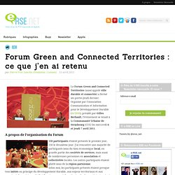 Forum Green and Connected Territories : ce que j'en ai retenu