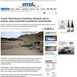 Conaf: Disminuyó el territorio afectado por la sequía, pero aumentó la población perjudicada