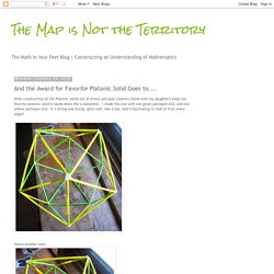 The Map is Not the Territory: And the Award for Favorite Platonic Solid Goes to....