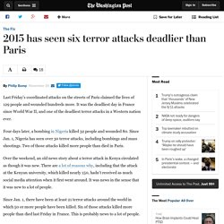 2015 has seen six terror attacks deadlier than Paris