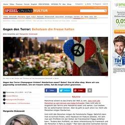 Paris-Terror: Behutsam die Fresse halten - Kolumne